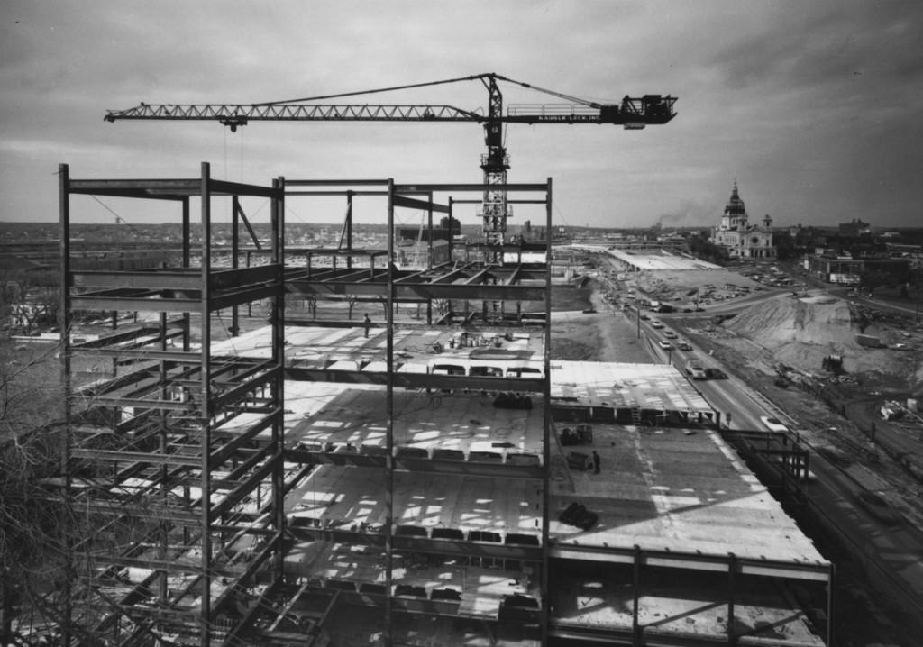 Walker-steel frame construction
