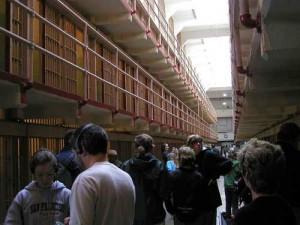 Visitors to Alcatraz
