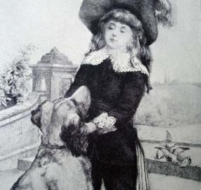 Fauntleroy with dog