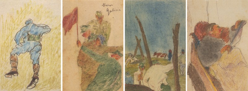 Postcards from the Front Soldier Helping Peasants in a Field, Soldier, Morsc-Galicia/The Russian Front, Convalescent Friend