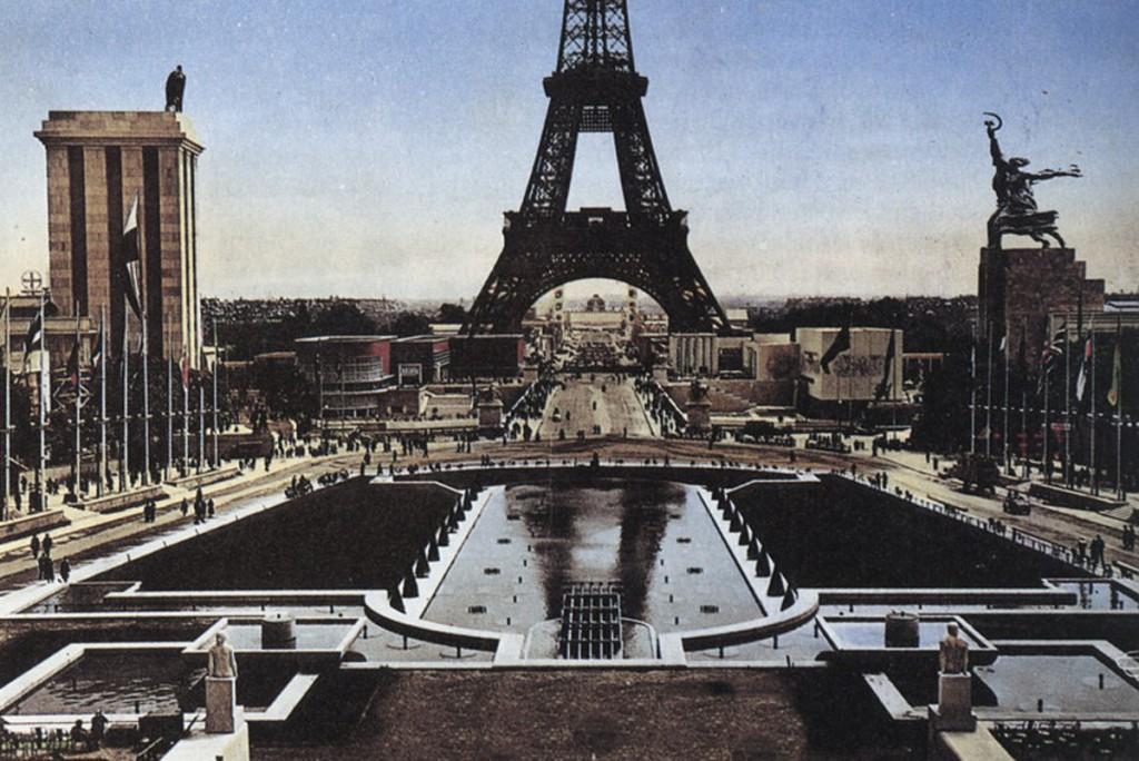 Eiffel tower, German and Soviet Pavilions