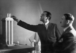 Hilter and Albert Speer with model for the German Pavilion.