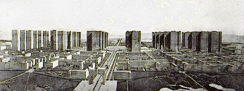 socialistcity: Le Corbusier, La Ville Radieuse 1935