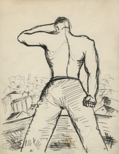 Drawing by Paul Weidlinger, later 1930