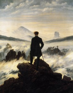 The Wanderer Above the Mists by Caspar David Freidrich (1818)