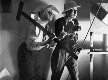Paul and Istvan Haasz and Juszef the cat, February 1940, La Paz Bolivia