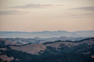 Sunrise distant hills