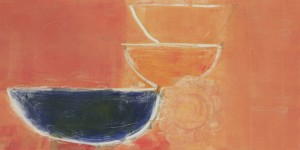 "THREE BOWLS OF SUMMER - 8'' x 15 ¾"" Monotype 2012"